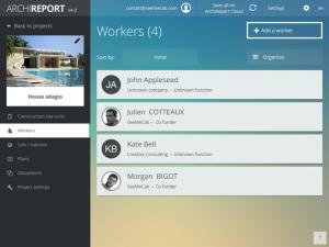 Workers Screen - ArchiReport Plus