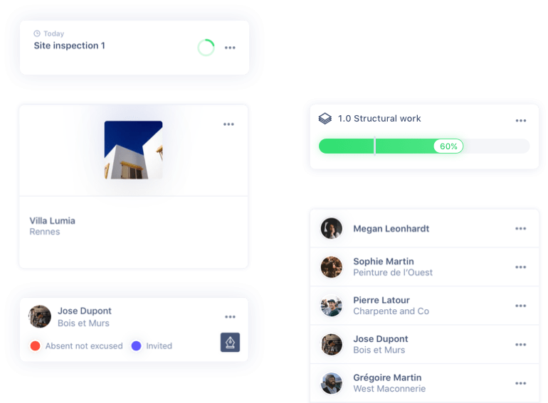 Fonctionnalité Manage and organise projects