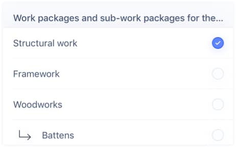 Assign work packages