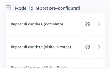 Salvare i modelli di report pre-configurati