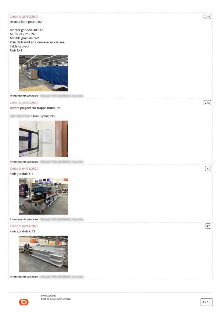 Exemples de remarques illustrées sur Archireport