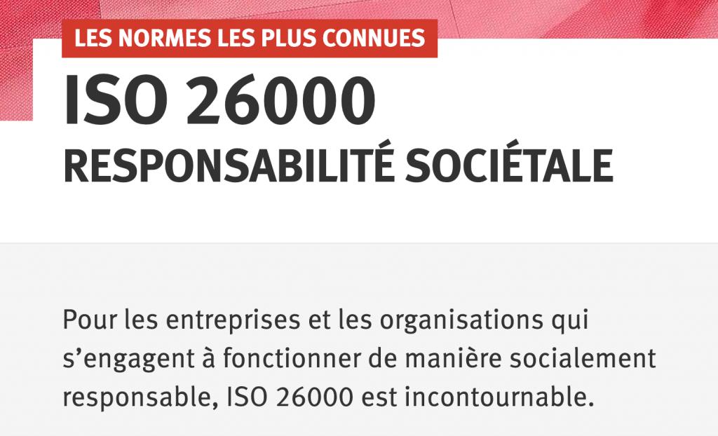 Capture d'écran site web ISO